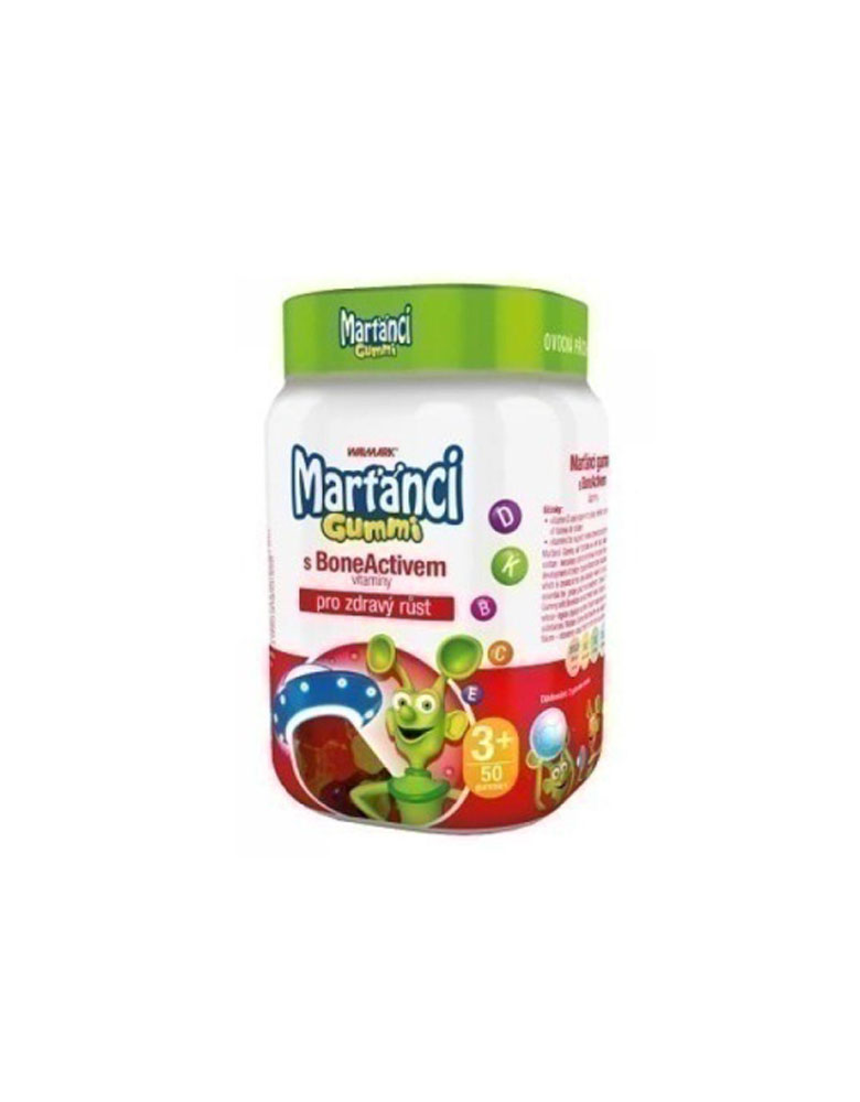 Martanci Gummi BoneActive 60tb Vitamina për fëmijë në formë të gomave